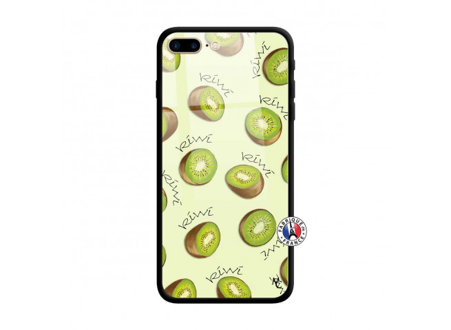 Coque iPhone 7 Plus/8 Plus Sorbet Kiwi Verre