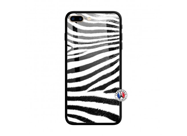 Coque iPhone 7 Plus/8 Plus Zebre Style Verre Trempe