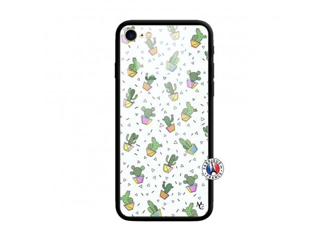 Coque iPhone 7/8 Le Monde Entier est un Cactus Verre Trempe