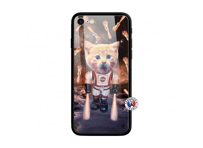 Coque iPhone 7/8 Cat Nasa Verre Trempe