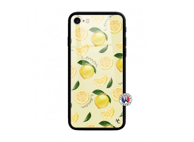 Coque iPhone 7/8 Sorbet Citron Verre Trempe