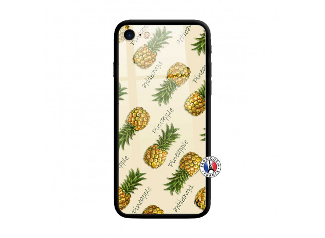 Coque iPhone 7/8 Sorbet Ananas Verre