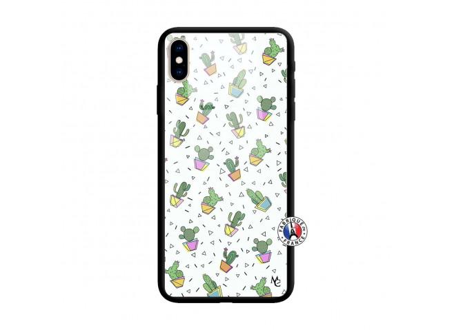Coque iPhone X/XS Le Monde Entier est un Cactus Verre Trempe