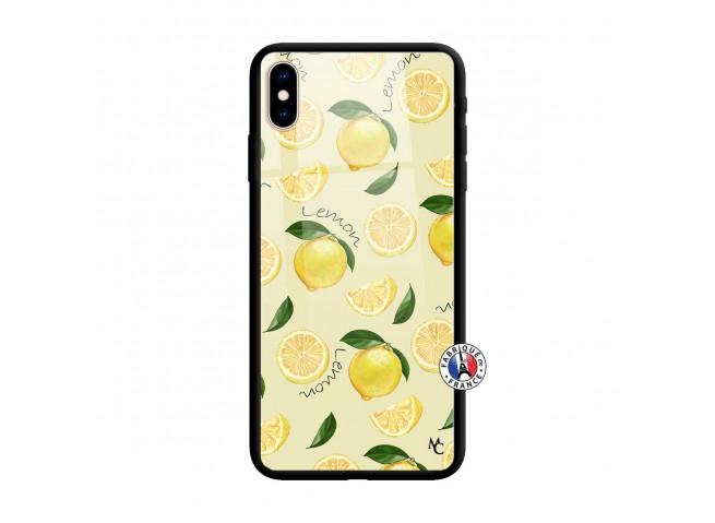 Coque iPhone X/XS Sorbet Citron Verre Trempe