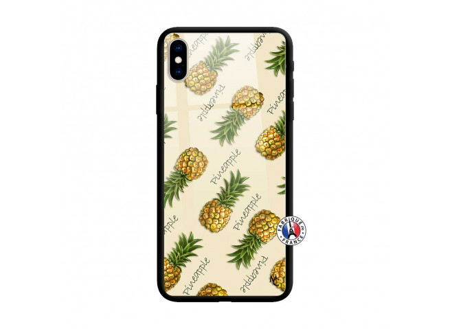 Coque iPhone X/XS Sorbet Ananas Verre
