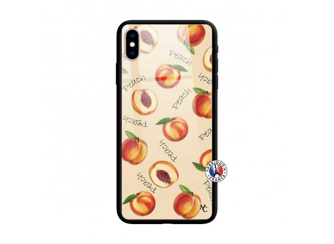 Coque iPhone X/XS Sorbet Pêche Verre