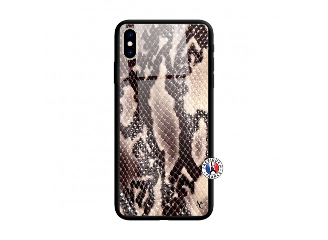 Coque iPhone X/XS Snake Style Verre Trempe