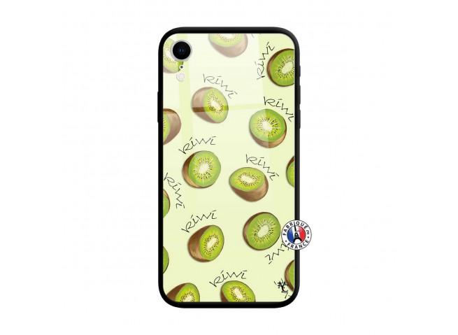 Coque iPhone XR Sorbet Kiwi Verre