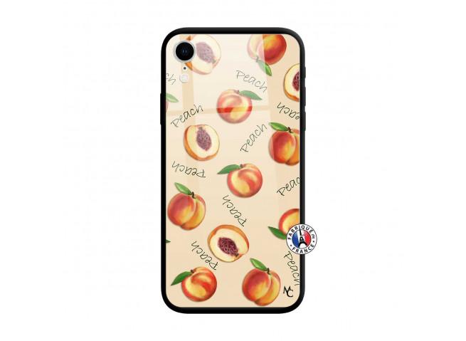 Coque iPhone XR Sorbet Pêche Verre