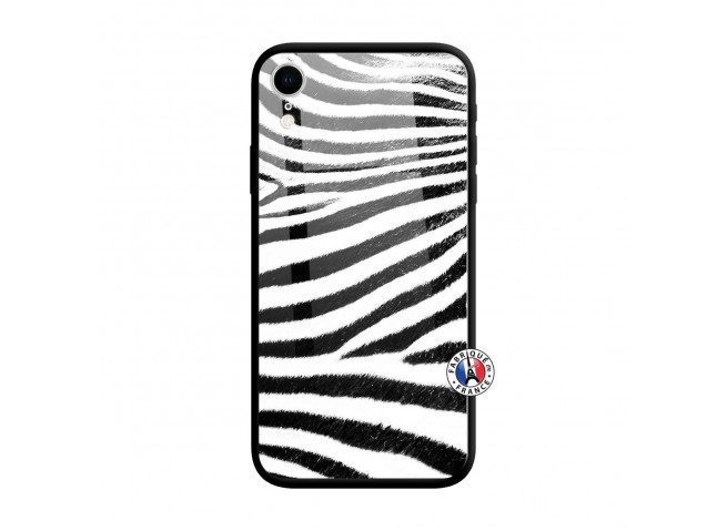 Coque iPhone XR Zebre Style Verre Trempe