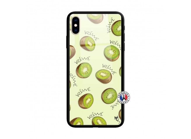 Coque iPhone XS MAX Sorbet Kiwi Verre
