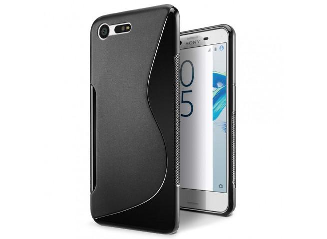 Coque Sony Xperia X Compact Silicone Grip-Noir