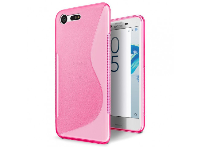 Coque Sony Xperia X Compact Silicone Grip-Rose