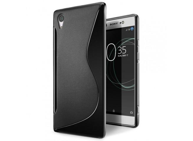 Coque Sony Xperia XA1 Ultra Silicone Grip-Noir