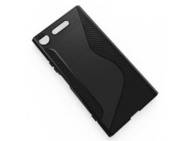 Coque Sony Xperia XZ1 Silicone Grip-Noir