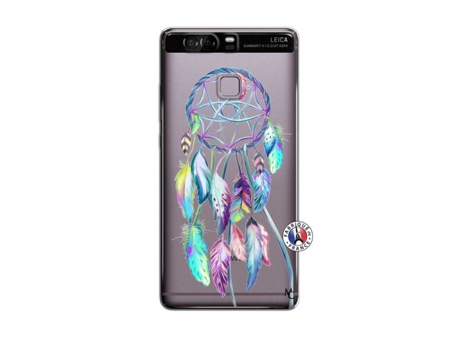 Coque Huawei P9 Blue Painted Dreamcatcher