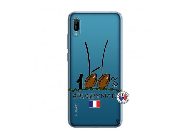 Coque Huawei Y6 2019 100 % Rugbyman Entre les Poteaux