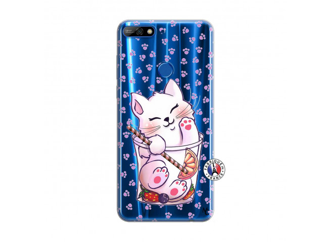 Coque Huawei Y7 2018 Smoothie Cat