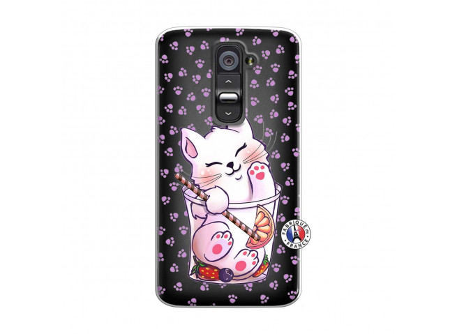 Coque Lg G2 Smoothie Cat