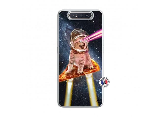 Coque Samsung Galaxy A80 Cat Pizza Translu