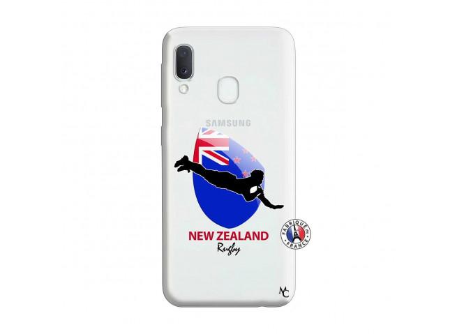 Coque Samsung Galaxy A20e Coupe du Monde Rugby- Nouvelle Zélande