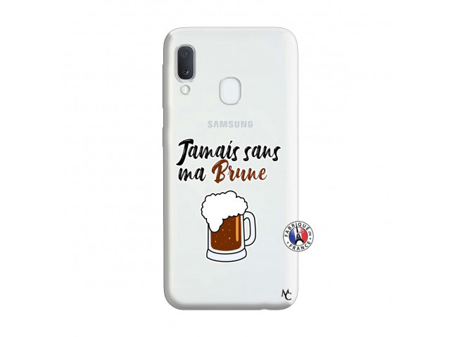 Coque Samsung Galaxy A20e Jamais Sans Ma Brune