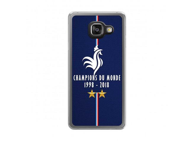 Coque Samsung Galaxy A3 2016 Champions Du Monde 1998 2018 Transparente