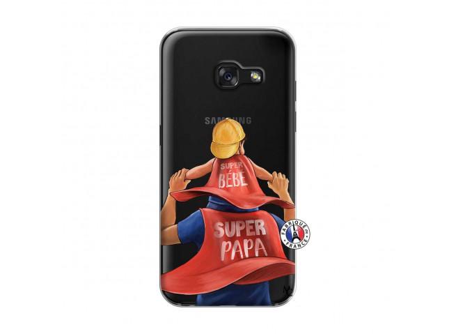 Coque Samsung Galaxy A3 2017 Super Papa et Super Bébé