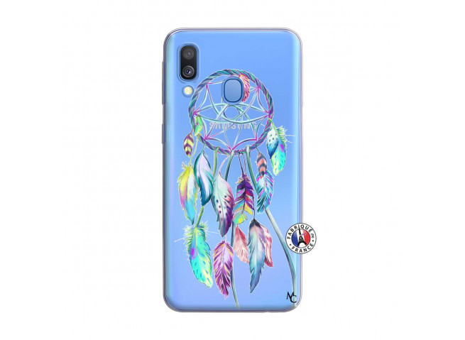 Coque Samsung Galaxy A40 Blue Painted Dreamcatcher