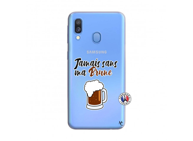 Coque Samsung Galaxy A40 Jamais Sans Ma Brune