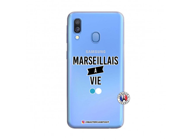 Coque Samsung Galaxy A40 Marseillais à Vie