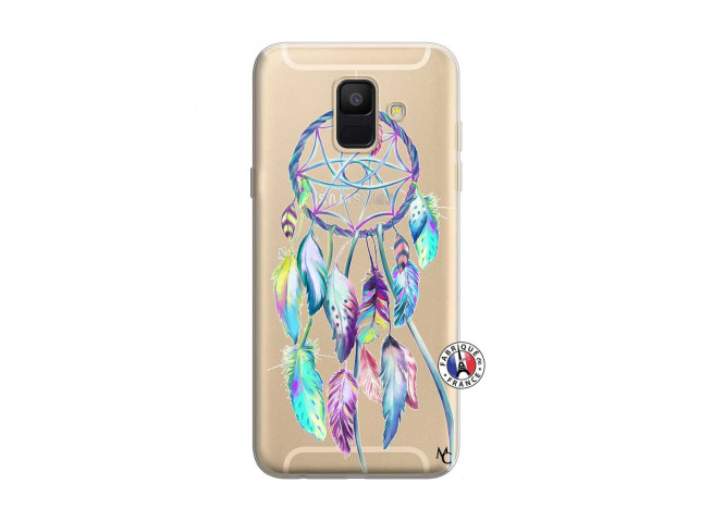 Coque Samsung Galaxy A6 2018 Blue Painted Dreamcatcher