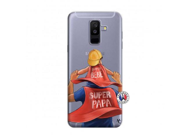Coque Samsung Galaxy A6 Plus Super Papa et Super Bébé