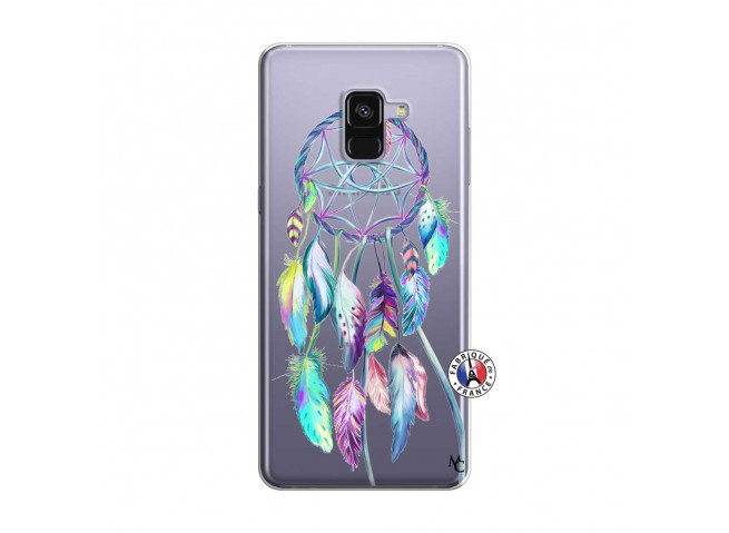 Coque Samsung Galaxy A8 2018 Blue Painted Dreamcatcher