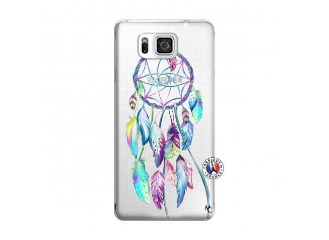Coque Samsung Galaxy Alpha Blue Painted Dreamcatcher