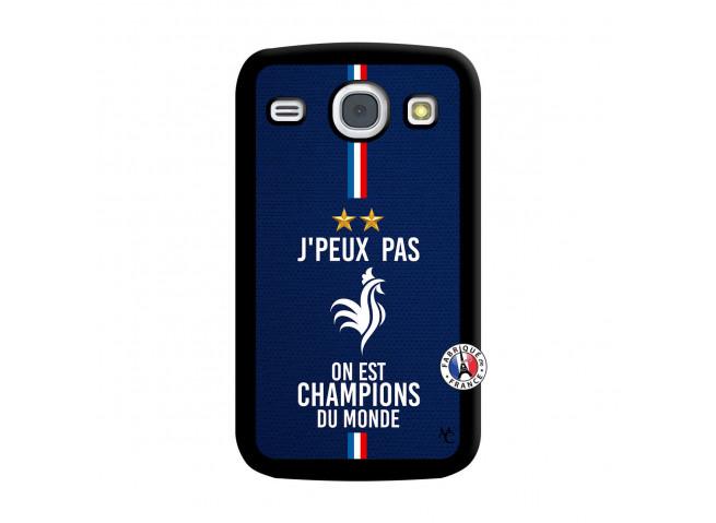 Coque Samsung Galaxy Core Je Peux Pas On Est Les Champions Du Monde Noir