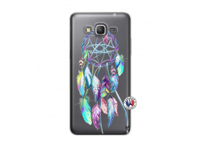 Coque Samsung Galaxy Grand Prime Blue Painted Dreamcatcher
