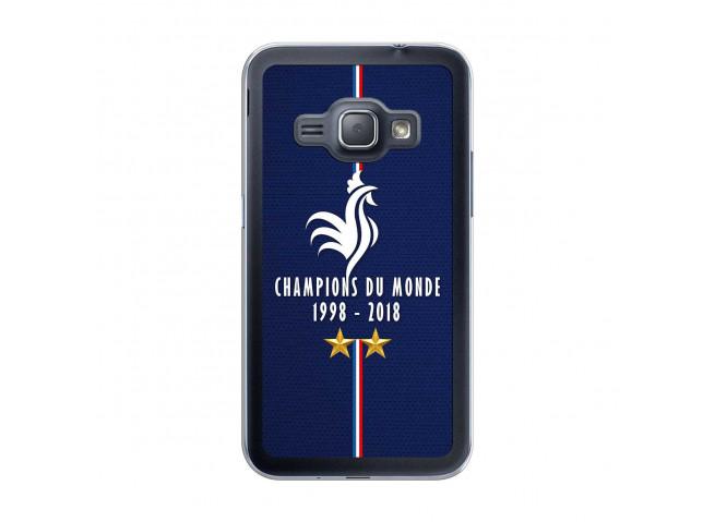 Coque Samsung Galaxy J1 2016 Champions Du Monde 1998 2018 Transparente