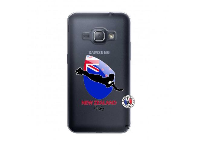 Coque Samsung Galaxy J1 2016 Coupe du Monde Rugby- Nouvelle Zélande