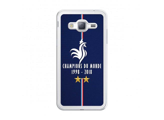Coque Samsung Galaxy J3 2016 Champions Du Monde 1998 2018 Transparente