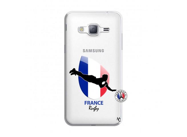 Coque Samsung Galaxy J3 2016 Coupe du Monde de Rugby-France