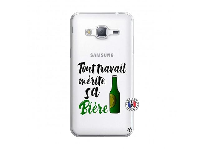 Coque Samsung Galaxy J3 2016 Tout Travail Merite Sa Biere