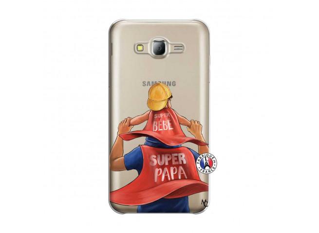 Coque Samsung Galaxy J5 2015 Super Papa et Super Bébé