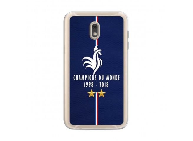 Coque Samsung Galaxy J6 2018 Champions Du Monde 1998 2018 Transparente