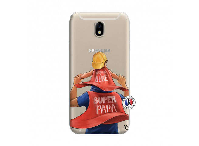 Coque Samsung Galaxy J7 2015 Super Papa et Super Bébé