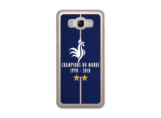 Coque Samsung Galaxy J7 2016 Champions Du Monde 1998 2018 Transparente