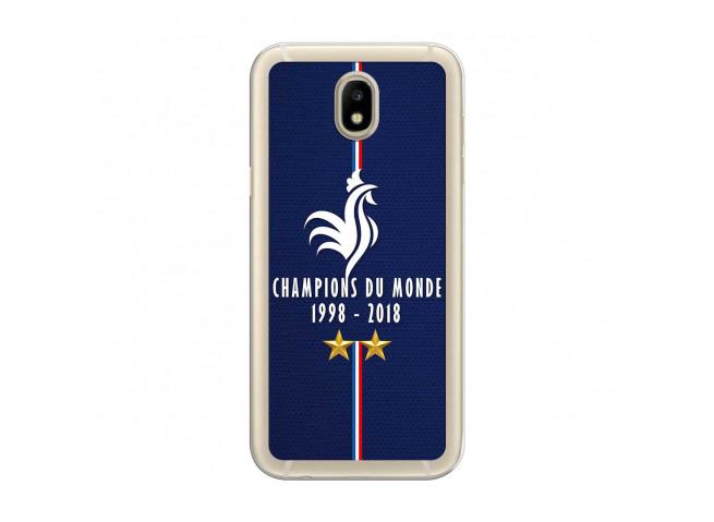 Coque Samsung Galaxy J7 2017 Champions Du Monde 1998 2018 Transparente