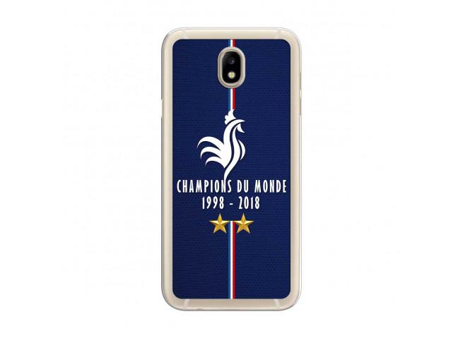 Coque Samsung Galaxy J7 Champions Du Monde 1998 2018 Transparente