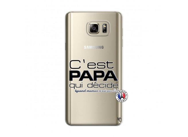 Coque Samsung Galaxy Note 5 C'est Papa Qui Décide Quand Maman n'est pas là