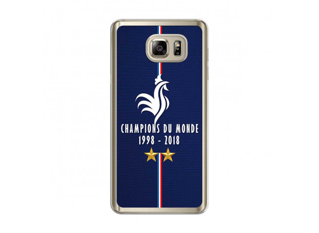 Coque Samsung Galaxy Note 5 Champions Du Monde 1998 2018 Transparente